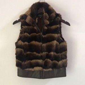 BEBE Faux Fur Vest XS